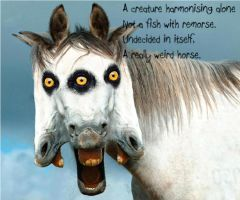 the weird horse poem by cagwda