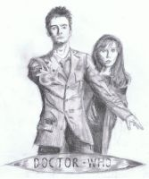 Doctor Who series 4 cover - lead pencil by A-Parliament-Of-Owls