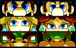 Mario - Persona Eyes Set 1 by DFKJR