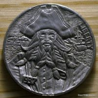 Hobo Nickel Pirate Blackbeard Re-carved Coin by shaun750