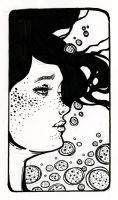 Drown ::Ink Drawing:: by lavonia