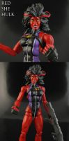 Custom Red She Hulk Marvel Legends Figure by Jin-Saotome