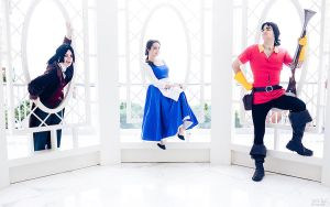 Belle, Lefuo and Gaston by CrystalPanda