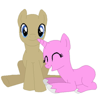 Doctor Whooves & Rainbow Heart Base by SelenaEde