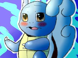Blushing Wartortle by Pokecrz