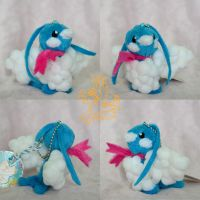 Commission: Tiny Altaria OC by CoffeeCupPup