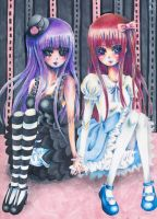The Two Lolita Dolls by xxswanfeather