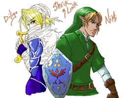 Zelda - Sheik and Link Collab by nyb