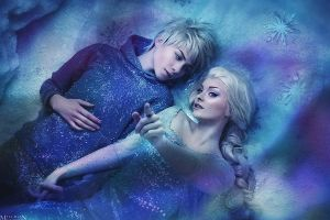 Elsa and Jack Frost by LilSophie