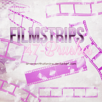 Filmstrips Brushes by AMomentThatIsMine