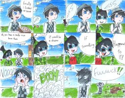 Minecraft in a comic: once-ler and the creep-ler by gakumi