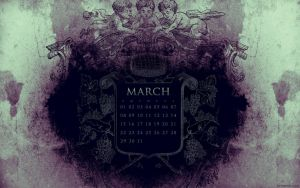 March 2009 Desktop Calendar by kriegs