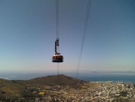Cable Car from Table Mountain by Rooivalk1