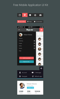 Free Mobile Application UI Kit PSD by cssauthor