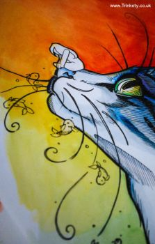 Whimsy Whiskers - A Close up by Trinkety