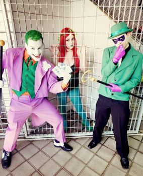 The Riddler - Featuring Poison Ivy and The Joker by ArlindoAlves