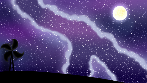 Scenery: Starry Hill by Cloureed