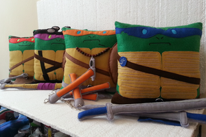 Handmade Teenage Mutant Ninja Turtles Pillow Set by RbitencourtUSA