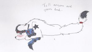 Don't you dare tell ANYONE... -Wolf- by DarkStarWolf13