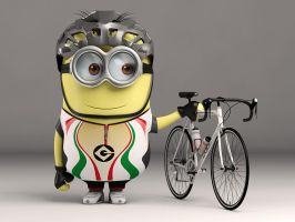 Minion Cyclist by nazmoza