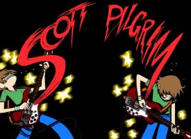 Scott Pilgrim rockin' by viciousdestroy