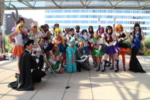 Otakon 2013 Sailor Moon Cosplay Group by SailorSamara