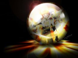 Schuker and Huan in glass ball by conanhsieh