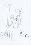 WPH Kidnapping sketches 1 Moley and Perridot by Ay6