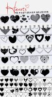 46 Hearts Brushes by sarthony