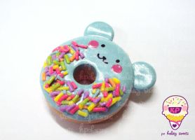 sweet blue bear donut by KPcharms