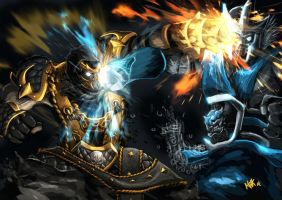 scorpion vs subzero Mortal Kombat Tribute by pematungWan