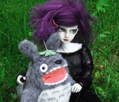 Willow and Totoro by ThePatchworkDandy