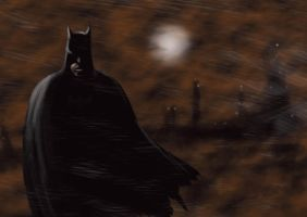 Batman Rain by odingraphics