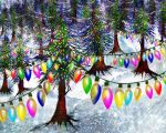 Festive Snow Hills (For Tina) by rabbitica