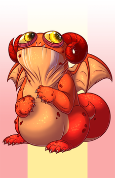 Red Pug Dragon by plushiemon