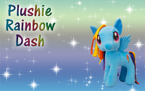 AT-Plushie Rainbow Dash Wallpaper by Supremechaos918
