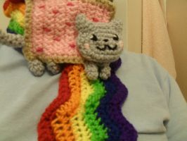 Nyan Cat Scarf by Vampire-Juicebox