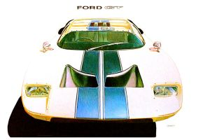 Ford GT 1964 by johnwickart