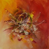 Abstract canvas painting : Fractum est by Javier-Pena