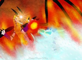 FIRE VS ICE - Dark Knight VS Eis Umarmung by KuznyaDragonOfBaa