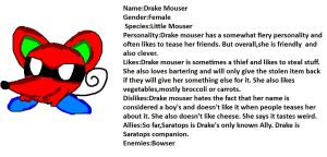 Drake Mouser (Super Mario and Kirby OC) by Me-MowTheCat
