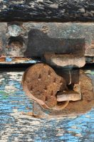 rusty padlock by density-stock