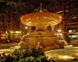 Bryant Park fountain by funygirl38