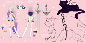 SENSHI REF SHEET by LeLittleLuna