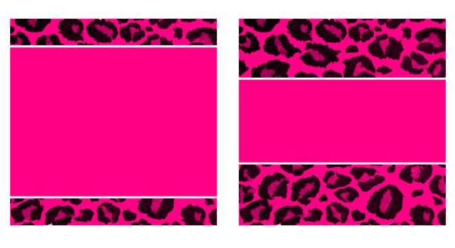 H. Pink and Black Leopard Paper and Business Card by StacyO