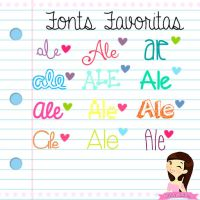 Fonts Favoritas! by Ale by AleColorfulEditions