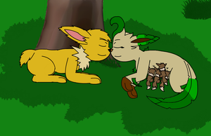 2 ferals and their kits by SesshaXIII