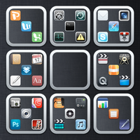 Flurry Folders iOS Style by realburch