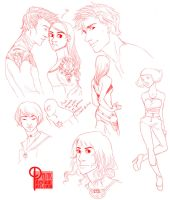 More red sketches - done in livestream by palnk