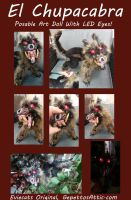 Chupacabra OOAK Posable Art Doll by Eviecats